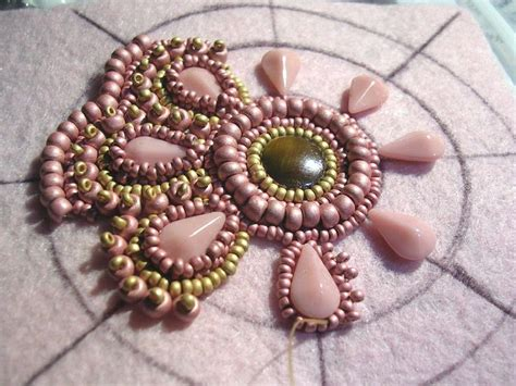 beading on fabric tutorial best 20 bead embroidery patterns ideas on