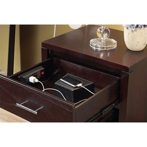 nightstand power station modus nevis charging station nightstand in espresso nv2381p
