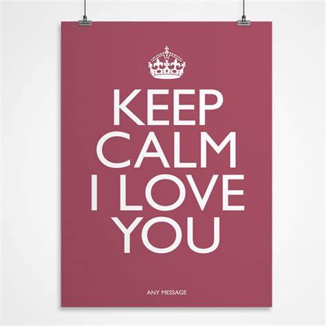 personalised keep calm i love you print personalised