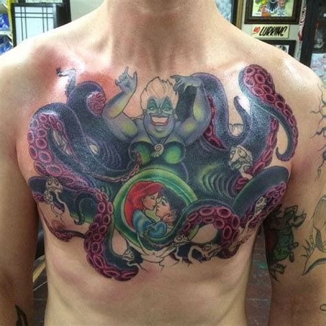 tattoo prices florida man gets epic little mermaid tattoo on chest you have to