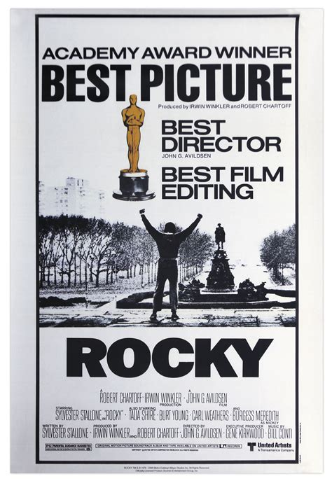 Plakat Rocky by Lot Detail Academy Awards Poster For 1976 Best Picture