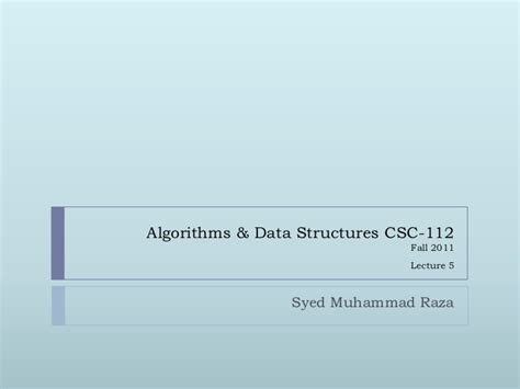 Average Running Time Of Linear Search Algorithm Algorithm Data Structures Lec4 5
