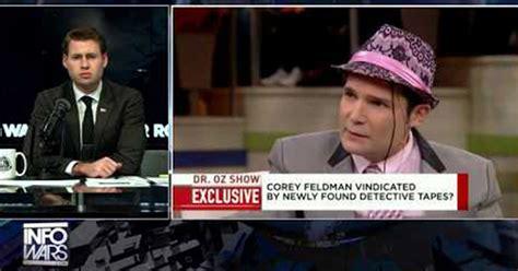 corey feldman shares police tape corey feldman shares naming his abuser 187 alex jones
