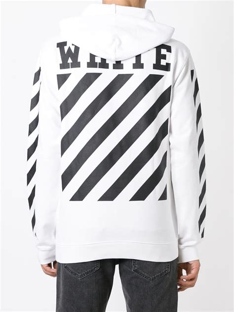Offwhite 100 Original white hoodie trendy clothes