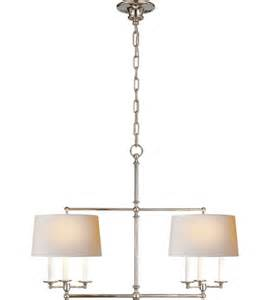 Visual Comfort Island Light Visual Comfort Sl5816pn Np E F Chapman Classic 6 Light 42 Inch Polished Nickel Linear Pendant