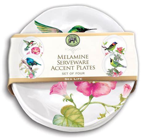 amazon com michel design works peony blossom home fragrance room bird song melamine accent plate set