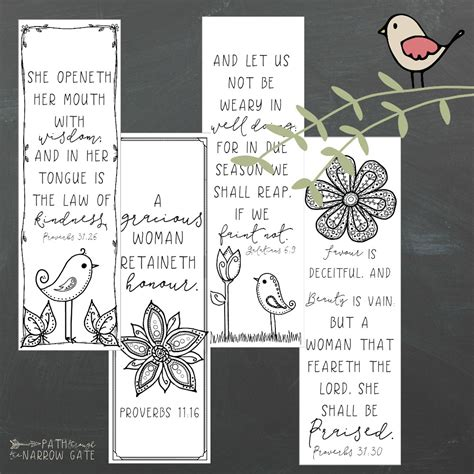 Printable Bookmarks for Moms   Path Through the Narrow Gate