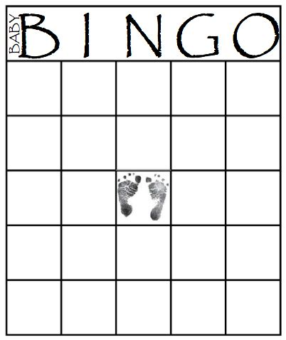 bingo sheet template baby shower blank bingo cards printable