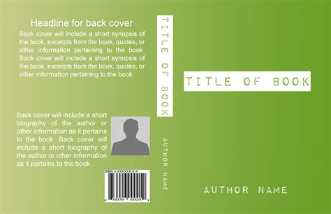 basic book cover templates self publishing relief