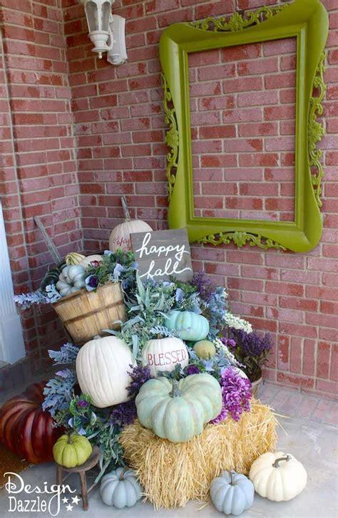 best diy crafts ideas fall pumpkin porch decor in plums