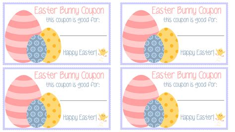 printable rabbit food coupons easter bunny coupons free printable my mini adventurer