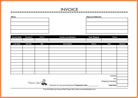 blank invoice uk invoice template ideas