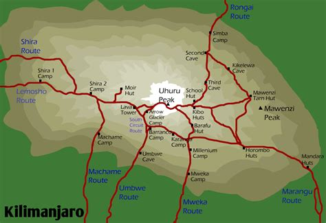 mt kilimanjaro map kilimanjaro climbing information