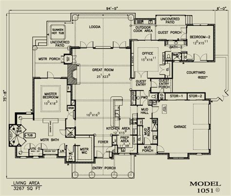 texas ranch house plans texas home plans