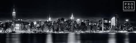 panoramic skyline of new york city at