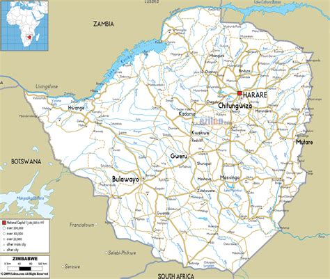 printable map of zimbabwe in africa detailed road map of zimbabwe zimbabwe detailed road map