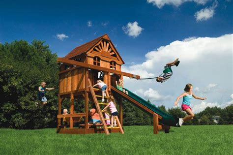 small backyard playsets small yard play structures swing set rainbow systems