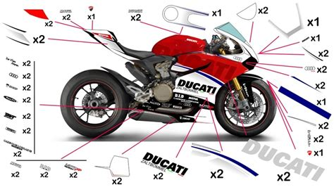 Ducati 848 Sticker Set by Stickers Ducati Zaltbommel 959 1299 Panigale 2015 2018