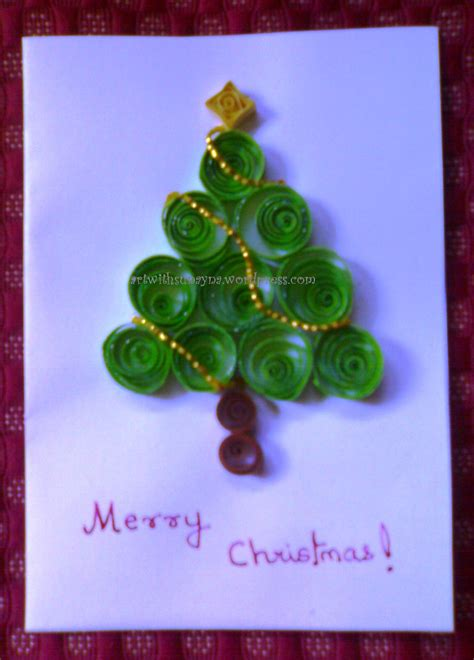 How To Make Paper Quilling Greeting Cards - paper quilling greeting card with sunayna