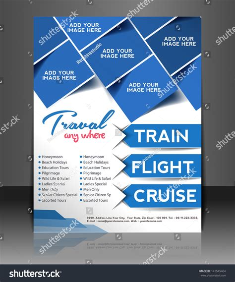 Vector Travel Brochure Flyer Magazine Cover Stock Vector 141545404 Shutterstock Create Flyer Template