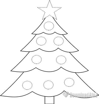 how draw an easy christmas tree sketch coloring page