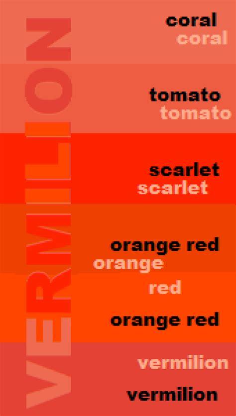 vermilion color vermilion the other orange