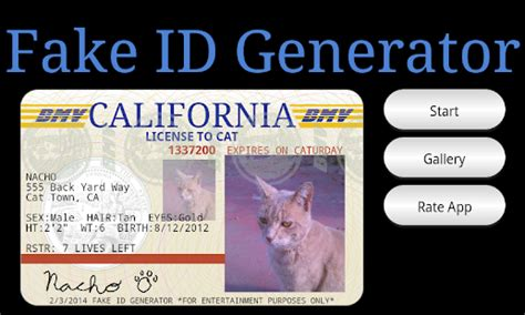 california id card template id generator android appcrawlr