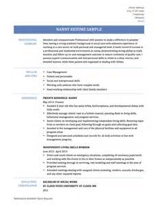 Example Nanny Resume How To Make A Nanny Resume