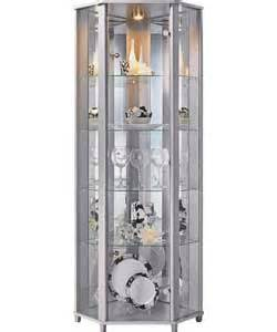 Corner Glass Display Cabinet Silver Effect Corner Display Cabinet Silver Effect Review Compare