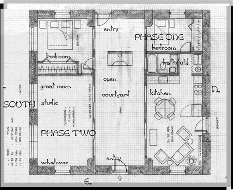 Straw Bale House Plans Courtyard A Straw Bale House Plan 375 Sq Ft