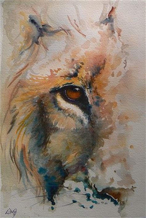 watercolor lion tutorial watercolour tattoos lion and watercolour on pinterest
