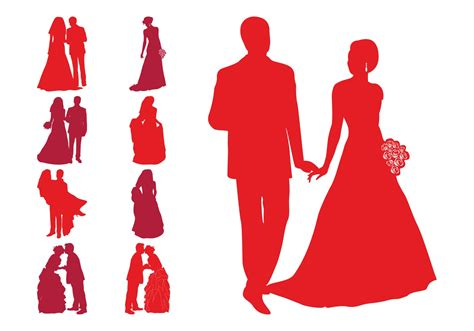 Wedding Vector by Wedding Silhouettes Free Vector Stock