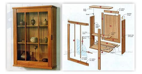 wall display cabinet plans woodarchivist