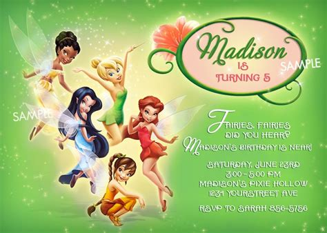 free printable disney fairies birthday invitations downloadable tinkerbell invitation orderecigsjuice info