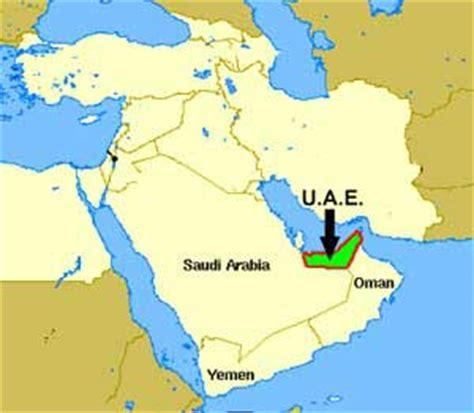 middle east map uae united arab emirates map middle east