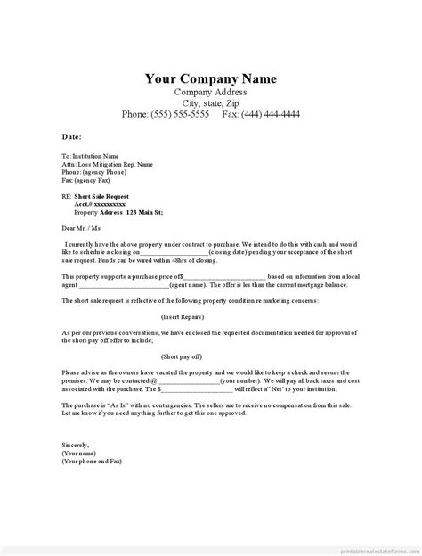 Offer Letter To Purchase sle real estate offer letter template exle pdf