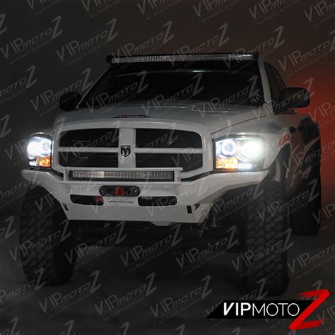fog light assembly dodge ram 1500 2006 2008 dodge ram 1500 ccfl halo projector headlights