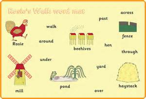 rosie walk a4 word mats free story resources free early amp primary teaching resources