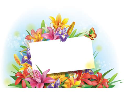 name tag background design beautiful lilies art background design 06 vector