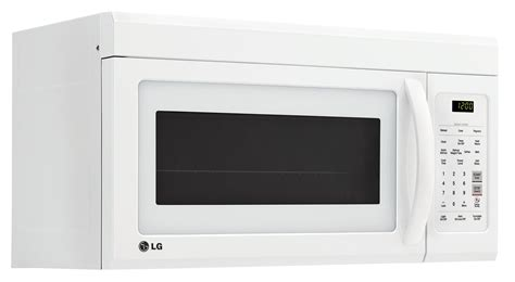 Microwave Oven Lg lg appliances white the range microwave 1 8 cu ft