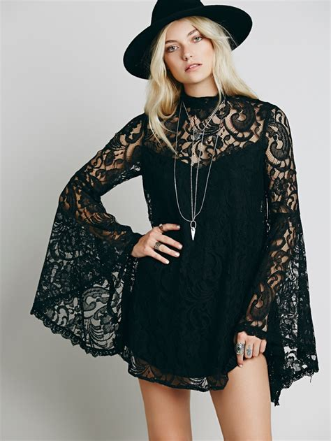 Bell Sleeve Lace Dress bell sleeve dress styles from free shop