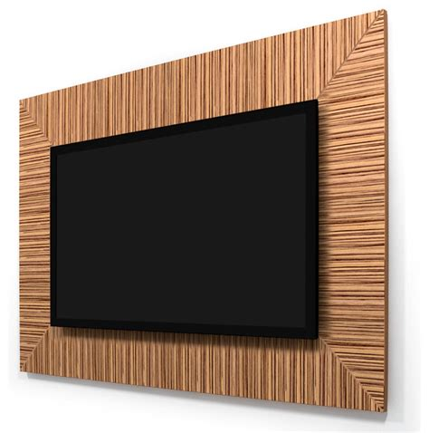 tv wall panel zebrawood 40 quot 46 quot tv wall panel contemporary home