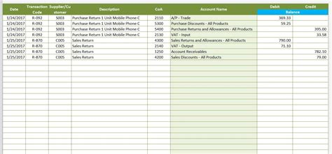 accounting templates for excel microsoft and open office