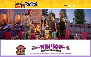 Frito Lay Sweepstakes 2015 - frito lay win 1 of 4 500 gift cards for your cinco fiesta by ma giveawayus com