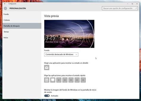 cambiar imagenes inicio windows 10 como cambiar el fondo de pantalla de inicio de sesion en