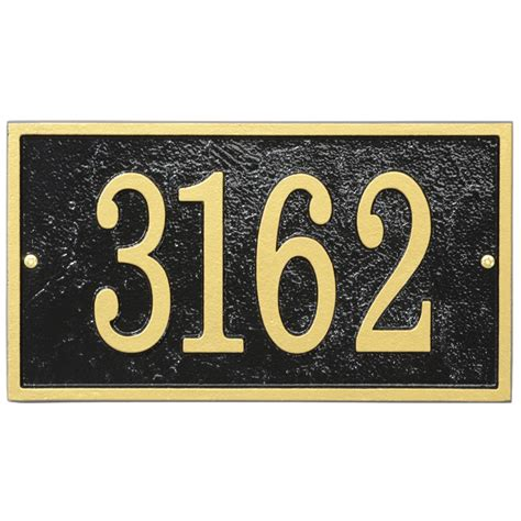 house number plaques home address plaque rectangle fast and easy in house number plaques