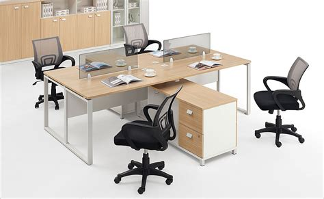 4 person office desk with partition for 4 person 4