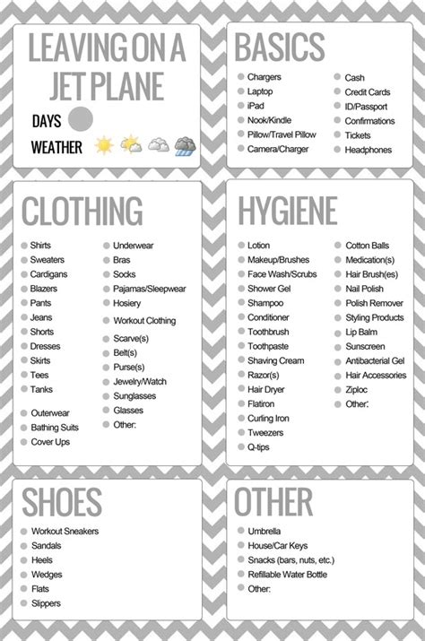 printable road trip packing checklist printable packing list for the future pinterest