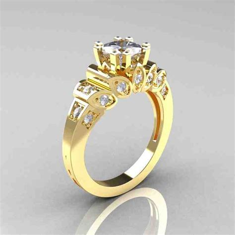 14k yellow gold engagement rings wedding and