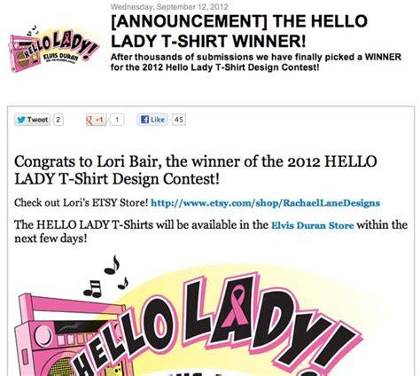 design competition announcement t shirt design contest idea announcement the hello lady